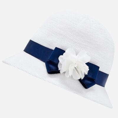 Καπέλο απλικέ Νεογέννητο κορίτσι-λευκό