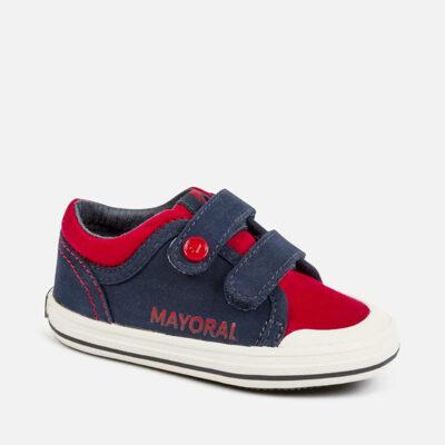Αθλητικά casual λογότυπο baby αγόρι-κόκκινο