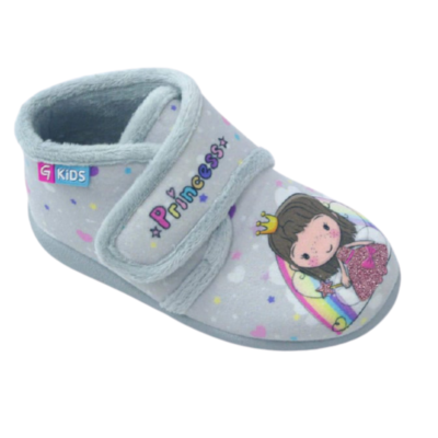 Παντοφλάκια Childrenland ΓΚΡΙ Princess